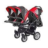 Kinderwagen für Drillinge Säugling und ältere Zwillinge 1 Gondel 3 Sportsitze Trippy Kinderwagen 2in1 - 6