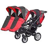 Kinderwagen für Drillinge Säugling und ältere Zwillinge 1 Gondel 3 Sportsitze Trippy Kinderwagen 2in1 - 8